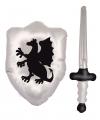 Opblaasbaar schild met zwaard