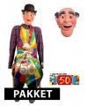 Opblaasbare abraham pop en masker