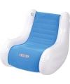 Opblaasbare blauwe stoel met speaker
