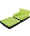 Opblaasbare groene sofa met leuning