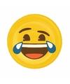 Opblaasbare lol emoticon luchtbed 130 x 110 cm