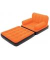 Opblaasbare oranje sofa met leuning