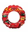 Opblaasbare zwemband cars rood 51 cm