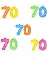 Opblaascijfers 70