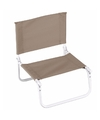 Opvouwbare camping strand stoel beige