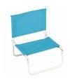 Opvouwbare camping strand stoel blauw
