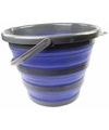Opvouwbare emmer blauw zwart 10 liter