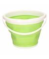 Opvouwbare emmer groen 10 liter