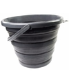 Opvouwbare emmer zwart 10 liter