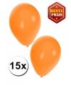 Oranje ballonnen 15 stuks