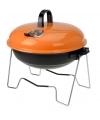 Oranje barbecue rond 36 cm