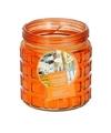 Oranje citronella kaars