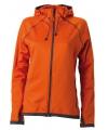 Oranje dames fleece jasje met capuchon