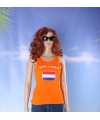 Oranje dames tanktop holland