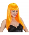 Oranje damespruik met lang stijl haar