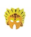 Oranje geel dinosaurus masker 18cm