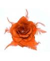 Oranje glitter roos accessoire