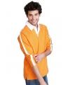 Oranje heren poloshirt