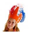 Oranje hoofdtooi voor dames