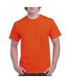 Oranje katoenen shirt voor volwassenen