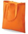 Oranje katoenen tasje