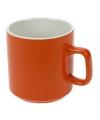 Oranje keramieken drinkmok