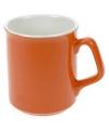 Oranje keramieken mok