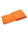 Oranje kinder fleece sjaal 112 cm