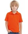 Oranje kinder poloshirt