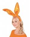 Oranje konijn haas oren voor volwassenen