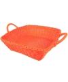 Oranje mandje vierkant 25 cm