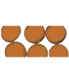 Oranje mozaiek steentjes rond