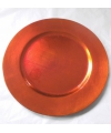 Oranje onderzet bord rond 33 cm