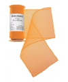 Oranje organza stof op rol 12 x 300 cm