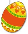 Oranje paasei decoratie 20 cm