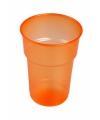 Oranje plastic glazen 75x