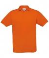 Oranje polo t shirt met korte mouw