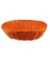 Oranje rieten mandje 20 cm
