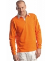 Oranje rugbyshirt voor heren