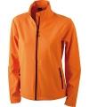 Oranje softshell dames jas