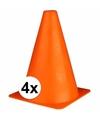 Oranje sport pionnen 19 cm 4 stuks