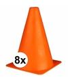 Oranje sport pionnen 19 cm 8 stuks