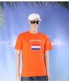 Oranje t shirt holland volwassenen