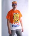 Oranje t shirt leeuw dubbel print