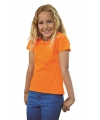 Oranje t shirt voor meiden