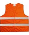Oranje veiligheidsvest voor volwassenen