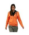 Oranje vest met ritssluiting voor dames