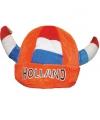 Oranje vikinghoed met belletjes