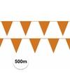 Oranje vlaggenlijnen 500 meter