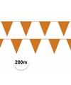 Oranje vlaggenlijnen pakket 200 meter
